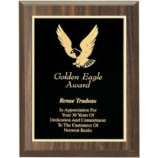 Value Priced Walnut or Black Finish Plaque